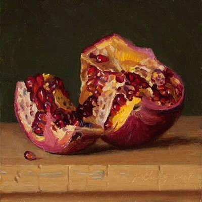 Pomegranate daily painting