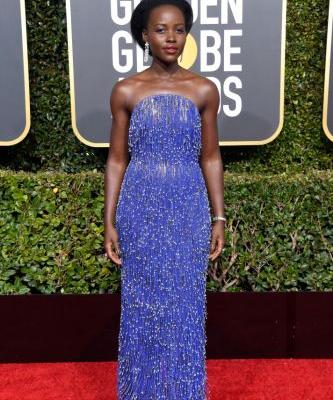Lupita Nyong'o's 2019 Golden Globes Look Was as Stunning as You'd Expect