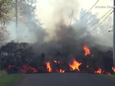 Watch flaming lava consume a Ford Mustang in time-lapse video