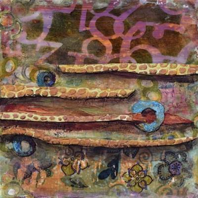 """Abstract Painting, Mixed Media Art, Contemporary Art For Sale, """"Beyond Infinity"""" by Santa Fe Contemporary Artist Sandra Duran Wilson"""