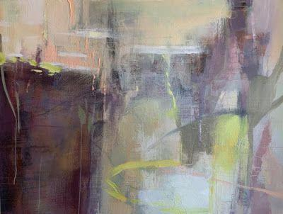 "Contemporary Abstract Painting, Expressionism ""CRYPTIC SPIRITS"" by Intuitive Artist Joan Fullerton"