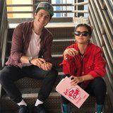 Alex and Justin Russo - er, Selena Gomez and David Henrie - Had a Fun-Filled Day at Disneyland