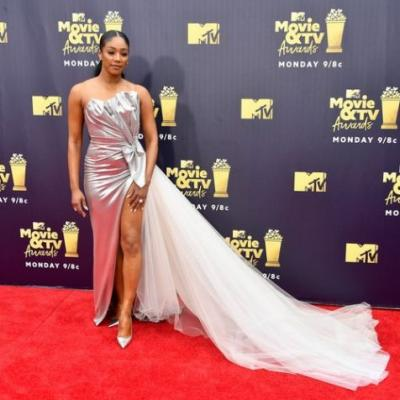 Tiffany Haddish's MTV Movie & TV Awards Red Carpet Look Was Pure Unicorn Goddess