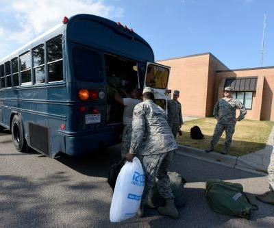Tens of thousands of troops, families, and recruits are evacuating military bases along the East Coast as Hurricane Florence approaches