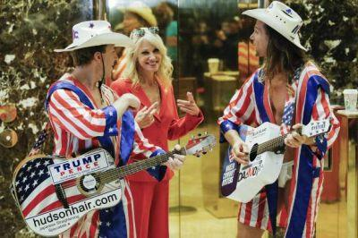 Ex-wives, vice presidents and naked cowboys: Trump Tower elevator cam has officially become reality TV