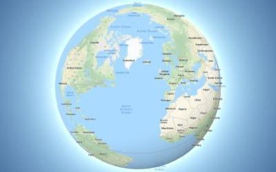 Google Maps is now a globe - just zoom out
