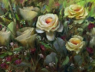 Spring Rose Garden by artist Pat Meyer