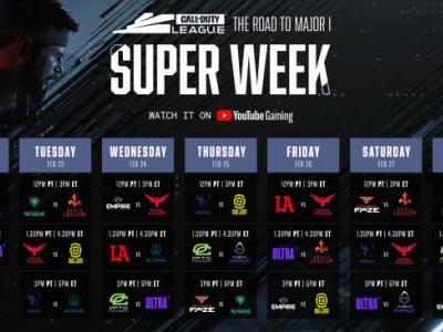 Call of Duty League Super Week is Seven Straight Days of Competition in Response to Power Outages in Texas