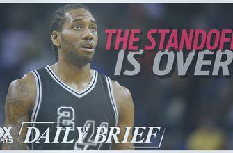 The standoff is over between Kawhi Leonard and the Spurs
