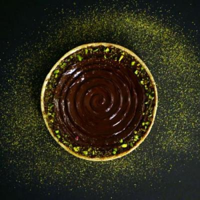 Chocolate Pistachio Tart