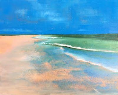 """Contemporary Seascape, """"Reflection 2,"""" by Amy Whitehouse"""
