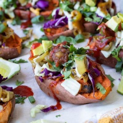 Healthy Twice Baked Potato Skins