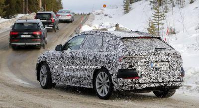 New Audi Q8 Coupe Crossover Prototype Spotted In Premium Car Convoy
