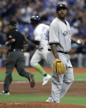 Tempers flare after hit batter as Rays beat Yankees 7-2
