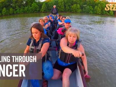 Group of breast cancer survivors find community through dragon boat racing