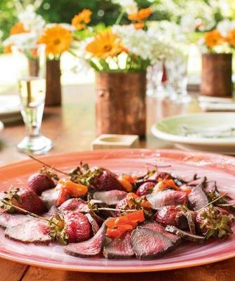 Recipe: Sugar-cured Venison with Roasted Balsamic Strawberries & Red Pepper Relish