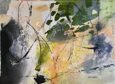 """Contemporary Abstract Expressionist Fine Art Painting """"SYMPHONY IN MY MIND"""" by Oklahoma Artist Nancy Junkin"""