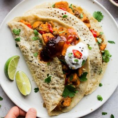 Easy sweet potato dosa