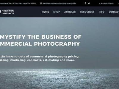 New educational website for new and aspiring commercial photographers