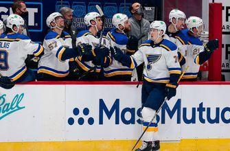 Sundqvist scores twice as Blues defeat Avalanche 4-1 in season opener