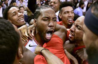 Leonard's bouncer beats buzzer, Raptors edge 76ers in Game 7