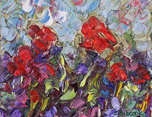 "Original Palette Knife Flower Painting ""Coming of Spring"" by Colorado Impressionist Judith Babcock"