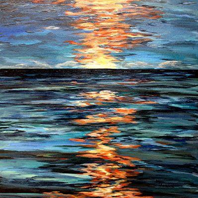"Contemporary Seascape Art Painting ""Light Play"" by Mary Arneson Art-Works of Whimsy"