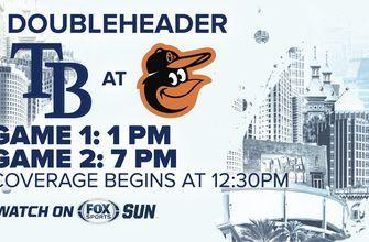 Preview: Rays series in Baltimore continues Saturday with day-night doubleheader