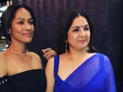 Neena Gupta in blue saree and plunging blouse turns up the heat. Fans heart her new pic