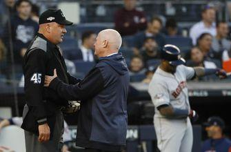 Injured plate umpire Jeff Nelson leaves Game 3 of ALCS