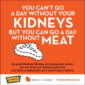 Exciting New Partnership! Meatless Monday and the National Kidney Foundation