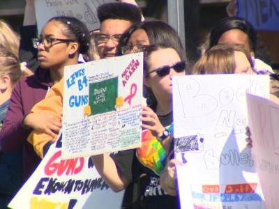 Baltimore students protest for gun safety on Columbine anniversary