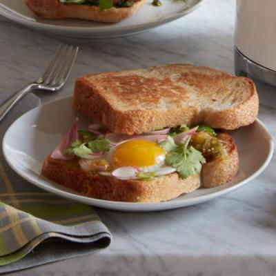 Fried Egg Sandwich with Quick Pickled Onions
