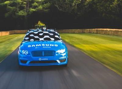 Drift car champ uses Samsung phone and Vodafone's 5G to do what he does best