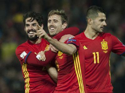 Spain 4-0 Macedonia: Monreal scores first international goal in comfortable win