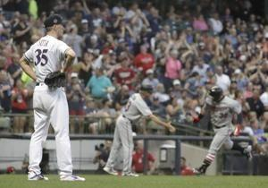 Miller's bases-loaded walk leads Brewers past Twins, 6-5