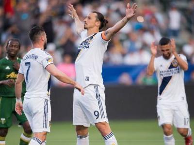 Zlatan Ibrahimovic brace sends LA Galaxy past the Portland Timbers