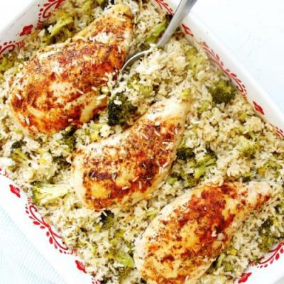 Chicken, Rice & Broccoli Casserole