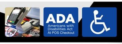 ADA.gov and one POS Terminal checkout Stand