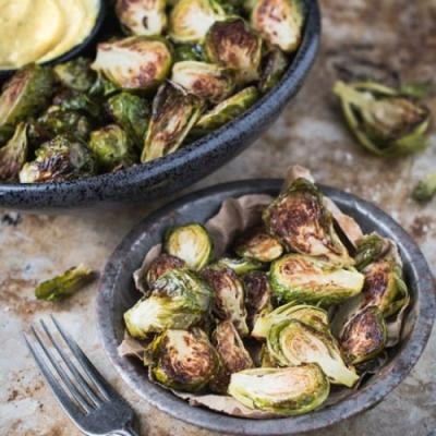 Roasted Brussels Sprouts with Aioli