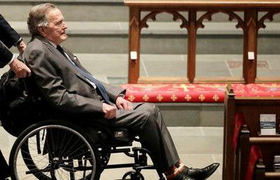 Former US President George H.W. Bush hospitalized