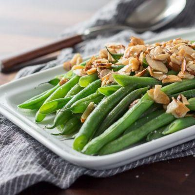 Easy Green Beans Almondine
