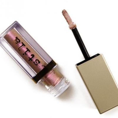 Stila Rockin' Rose, Tulip Twinkle, Plum On Glitter & Glow Liquid Eye Shadows Reviews & Swatches