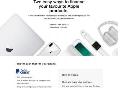 Apple removes PayPal Credit & Barclays financing options in the U.K