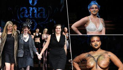 16 breast cancer survivors walked the runway topless during NYFW