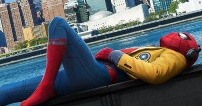 Tom Holland Unveils Spider-Man: Homecoming Theater StandeeTom