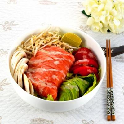 Salmon Sashimi Salad Bowl