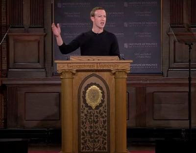 Mark Zuckerberg signals Facebook won't return to China as he calls on tech firms to defend free speech