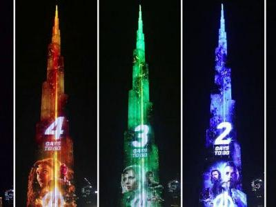 See Avengers: Infinity War Countdown on World's Tallest Building
