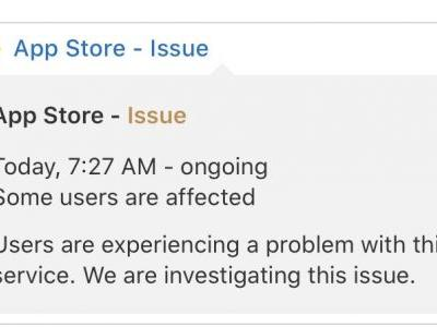 App Store Experiencing Outage